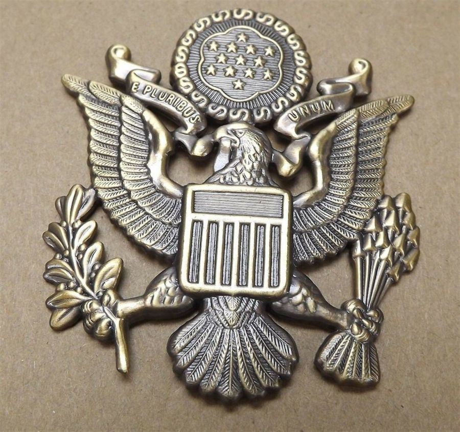 """Lapel pin NEW Badge US Army Officer 2-1/2"""" Antique Style 1"""