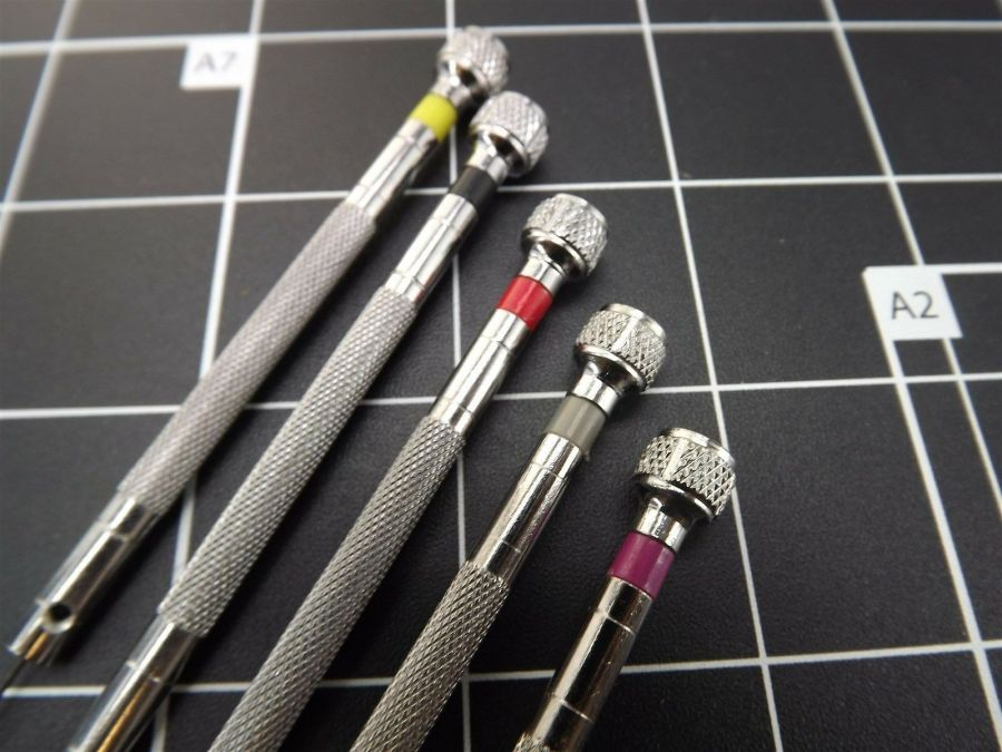 New 5-PIECE Precision Screwdriver Set  (WITH 5 EXTRA TIPS) JEWELERS, WATCHMAKERS 5