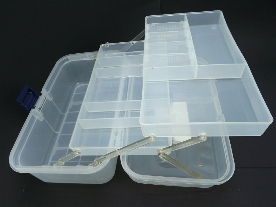 New Transparent Plastic Tool Box & Removable Inner Tray 6
