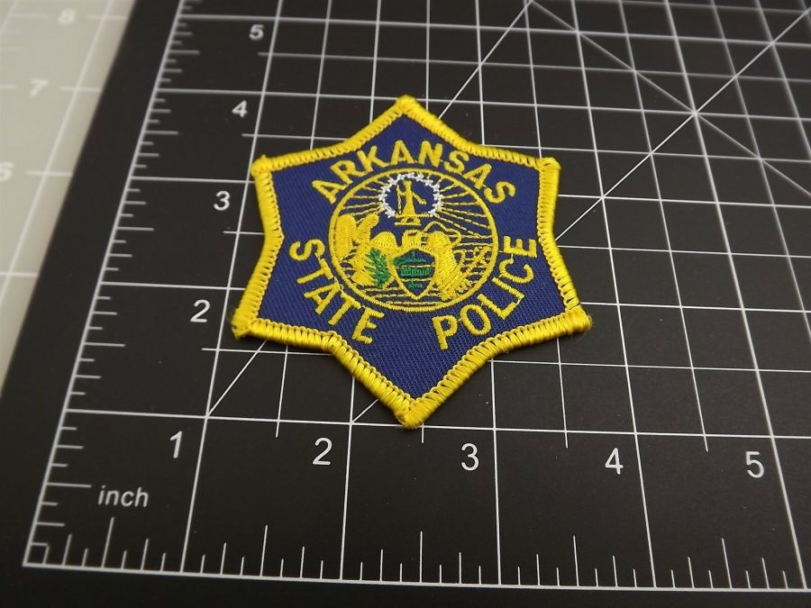 """ARKANSAS STATE POLICE"" PATCH BRAND NEW 3"