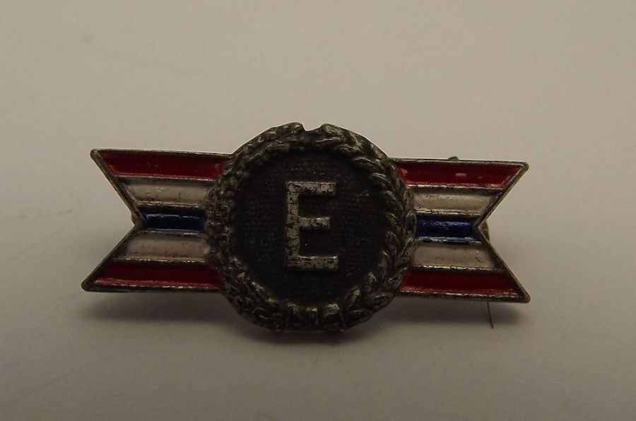 Antique Sterling Silver Army Navy Production Award Pin 1