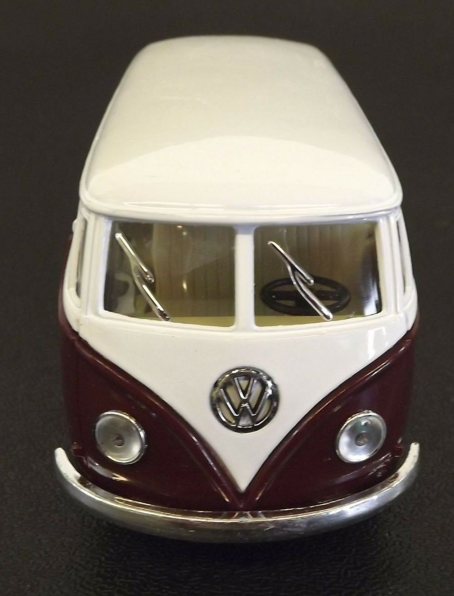 Collectible Die Cast MAROON 1962 Volkswagen Classic Bus VW 1:32 Scale Kinsmart 5