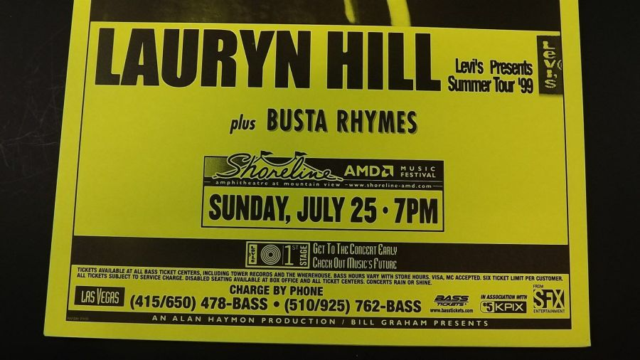 Genuine 1999 LAURYN HILL W/ BUSTA RHYMES Summer Tour Concert Poster Flyer Ad 3