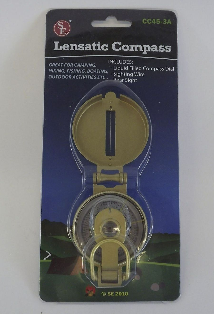 New Lensatic Compass Hiking Camping Survival Compass Liquid Filled 1