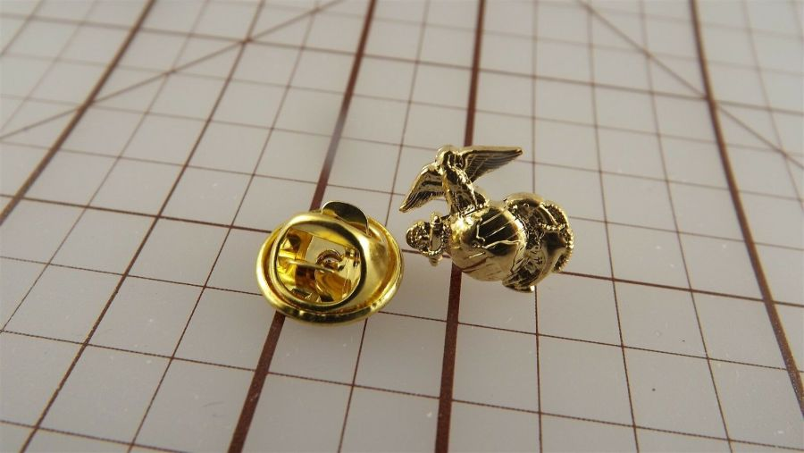 "USMC Gold Tone Right Collar ""Mini Pin"" United States Marine Corps Lapel EGA A1 4"