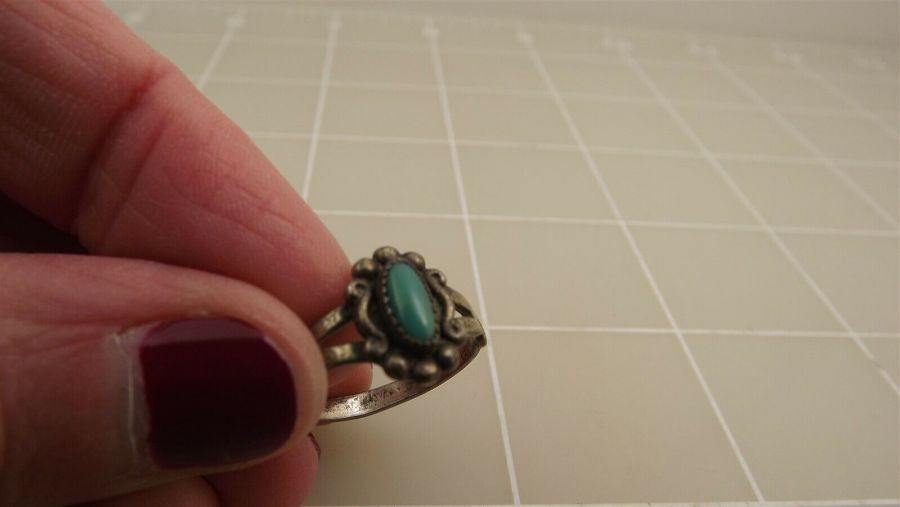 Vintage Sterling Silver TURQUOISE Ring 2.1Grams Size 5 3/4 5