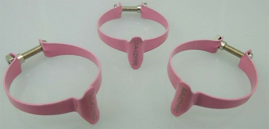 3 New Dia-Compe Frame Top Tube Brake Cable Holder 31.8mm Old School BMX PINK 4