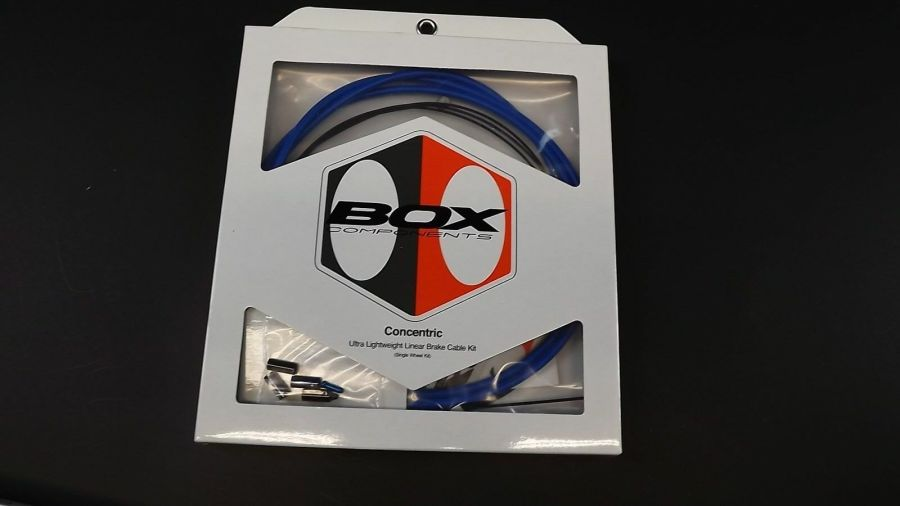 """BRAND NEW """"BOX COMPONENTS"""" CONCENTRIC BRAKE CABLE BLUE WITH LINEAR HOUSING BLUE 1"""
