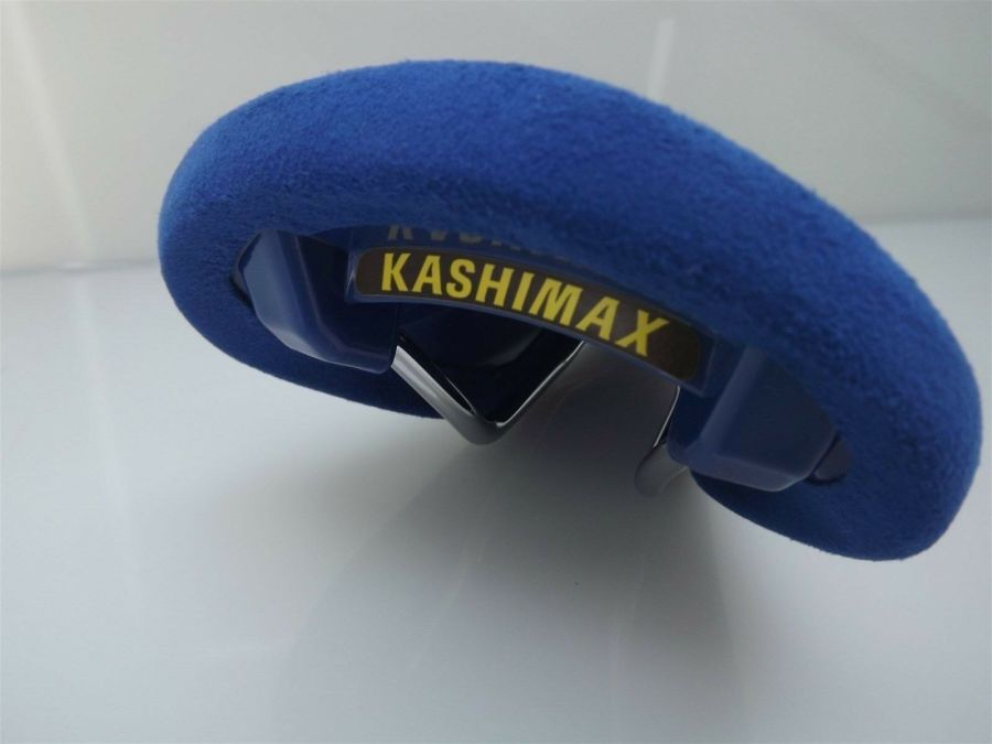 BRAND NEW Kashimax AERO BMX Seat BELLESEIME BLUE SUEDE Old School PADDED AX4A 4