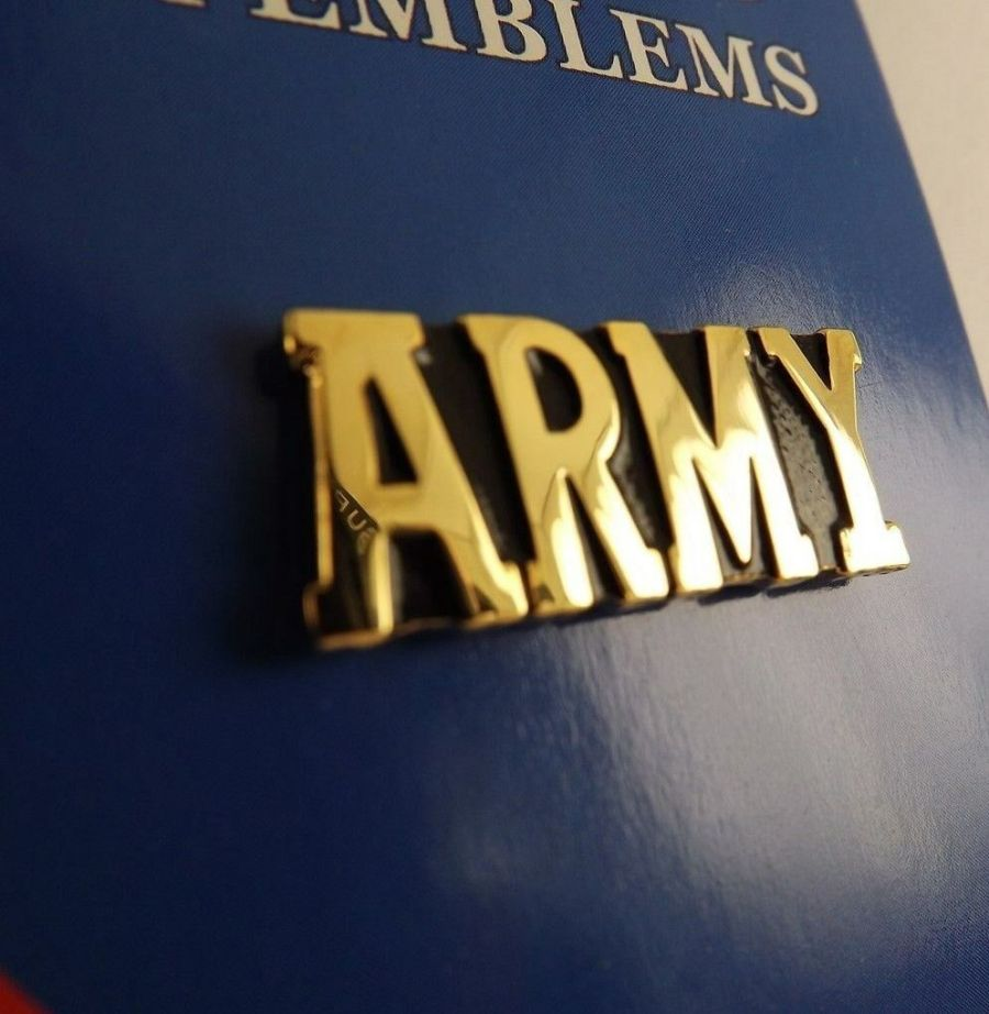 """BRAND NEW Lapel Pin Gold Tone United States Army ARMY 1"""" 1"""