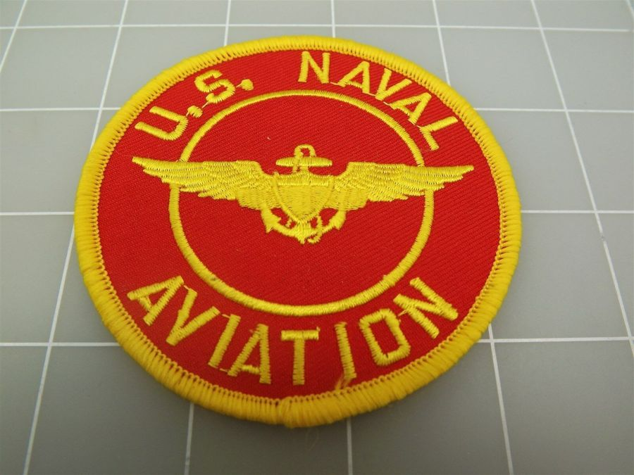 "BRAND NEW U.S. NAVY USN U.S. NAVAL AVIATION Red & Yellow Patch 3"" 1"