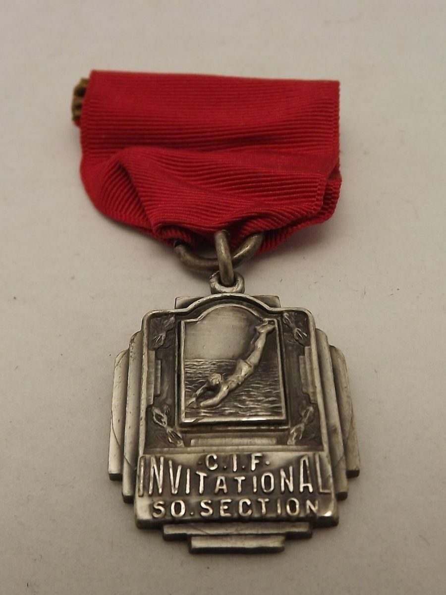 Collectible C.I.F Invitational So. Section 4 Man Class A Relay Medal 1936 1