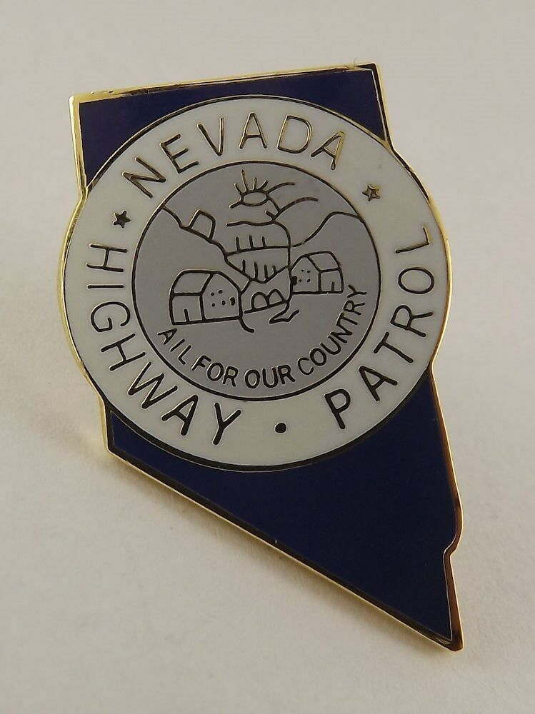 QUALITY MADE LAPEL HAT PIN ENAMEL NEVADA HIGHWAY PATROL ALL FOR COUNTRY 1