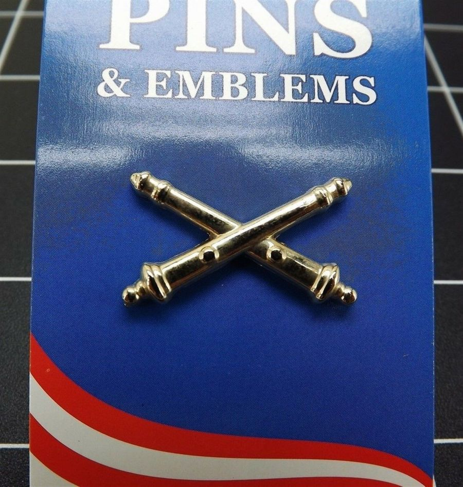 "BRAND NEW Lapel Pin Gold Tone United States Army Field Artillery 1 1/8"" 1"