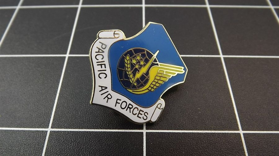 """BRAND NEW Lapel Pin U.S. Air Force PACIFIC AIR FORCES Enamel 1"""" 1"""