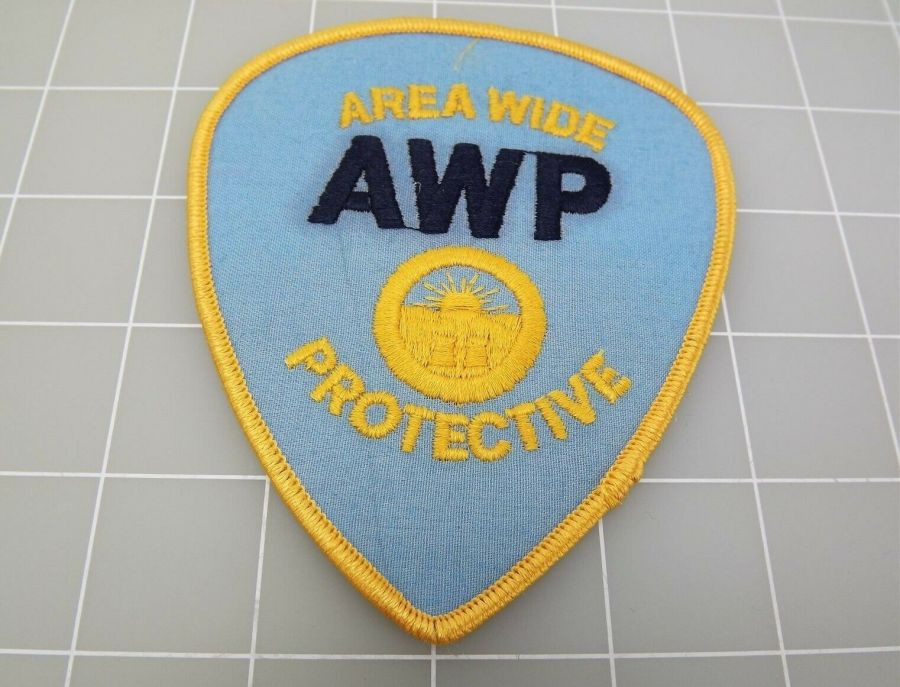 """Brand New Iron-on PATCH AREA WIDE PROTECTIVE AWP 4 x 4 1/2"""" 1"""