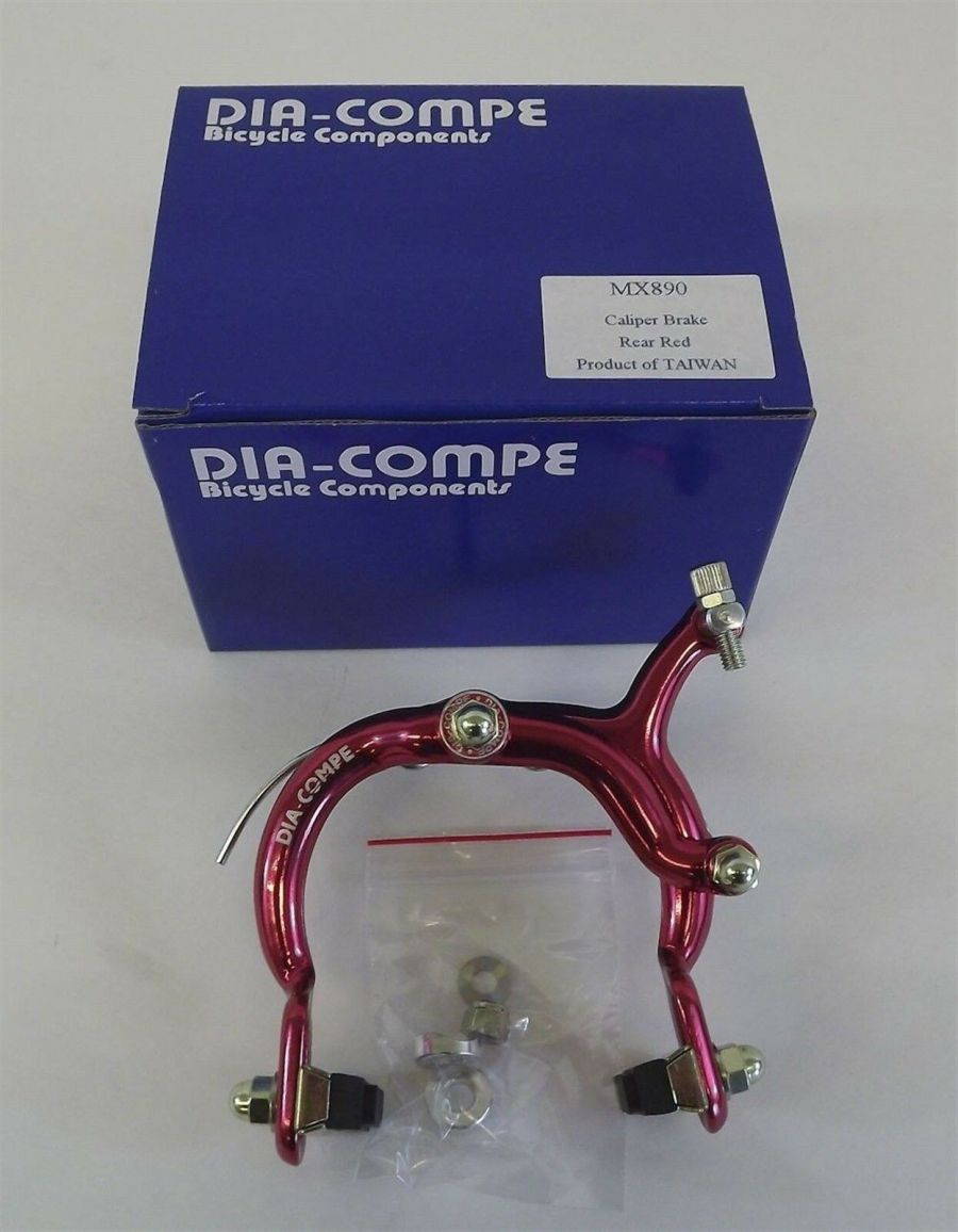 New Dia-Compe 890 Rear Brake Caliper Old School BMX Red Anodized 1