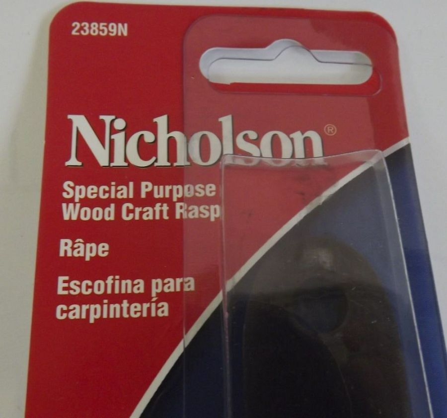 New Nicholson 23859N 8'' Special Purpose Wood craft Rasp 4