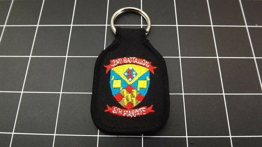 United States MARINES USMC 2ND Battalion 5TH Marines Embroidered Keychain 1