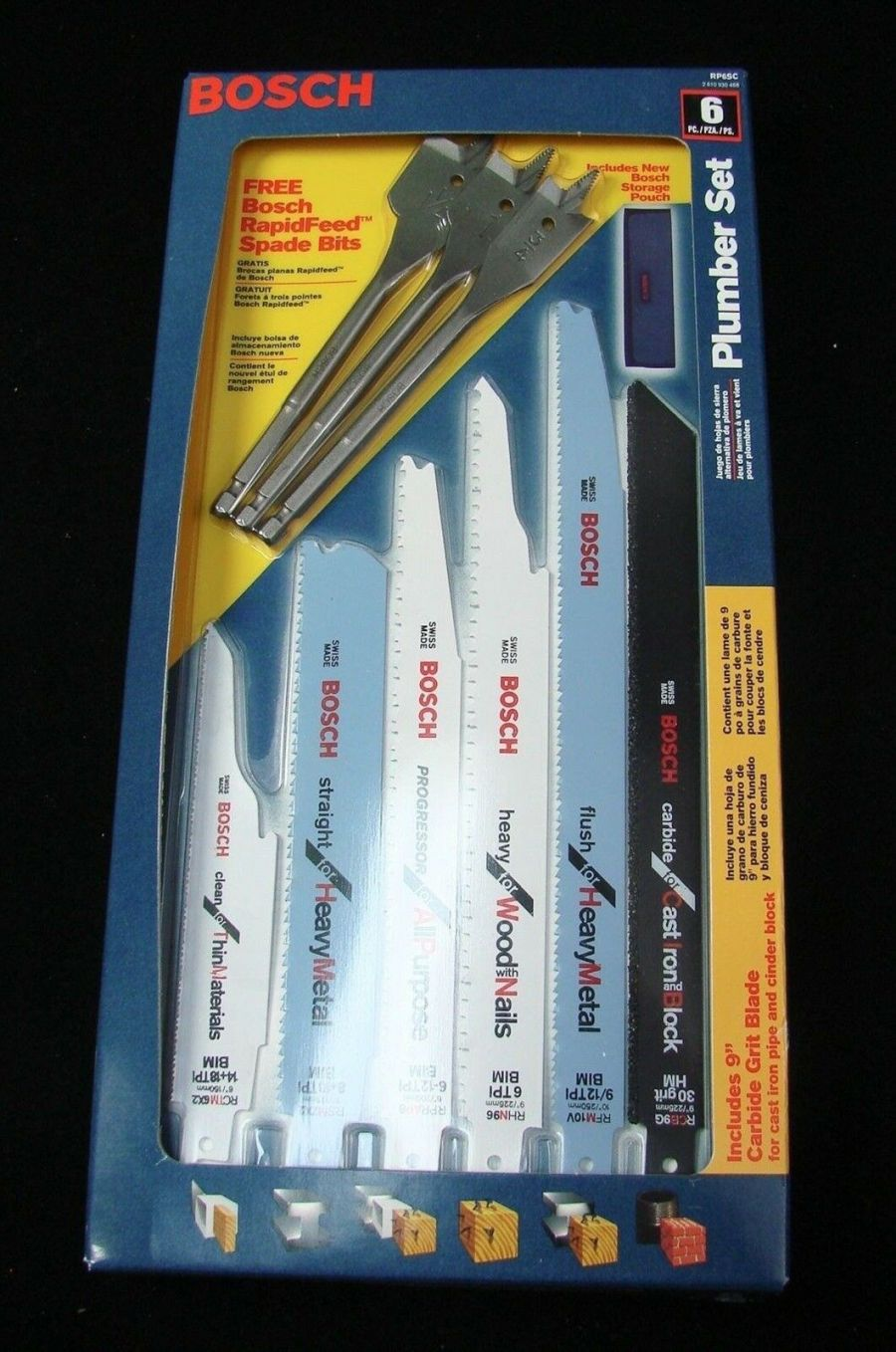 BOSCH RP6SC 6 Piece Reciprocating Saw Blade Plumbers 3