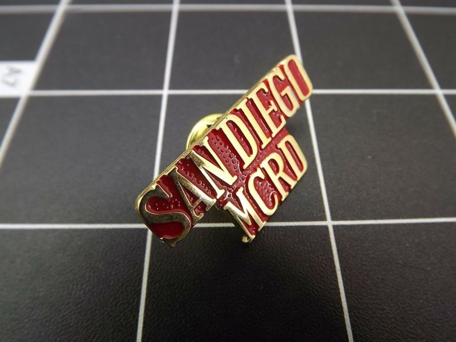 "BRAND NEW Lapel Pin ""USMC"" SAN DIEGO MCRD LIFETIME GUARANTEE 3"