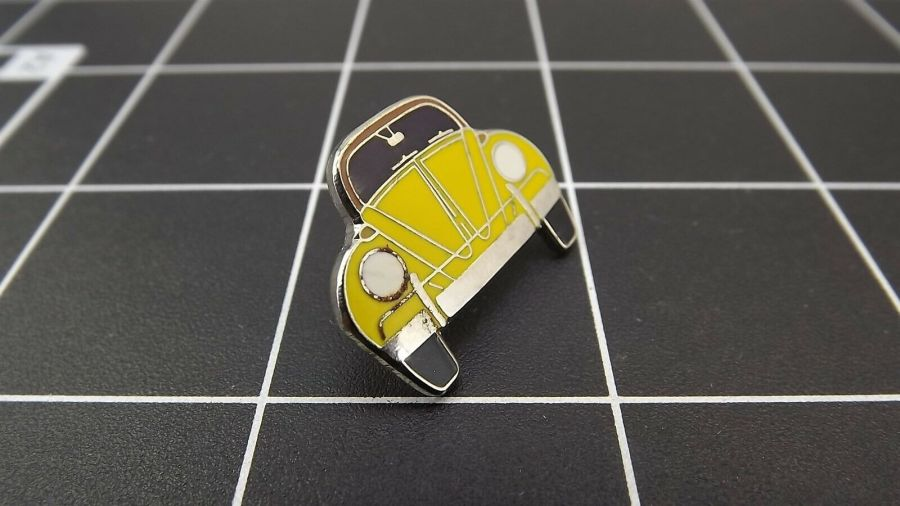 "BRAND NEW Lapel Pin VW VOLKSWAGEN ""YELLOW BEETLE ""  ENAMELED LIFETIME GUARANTEE 3"