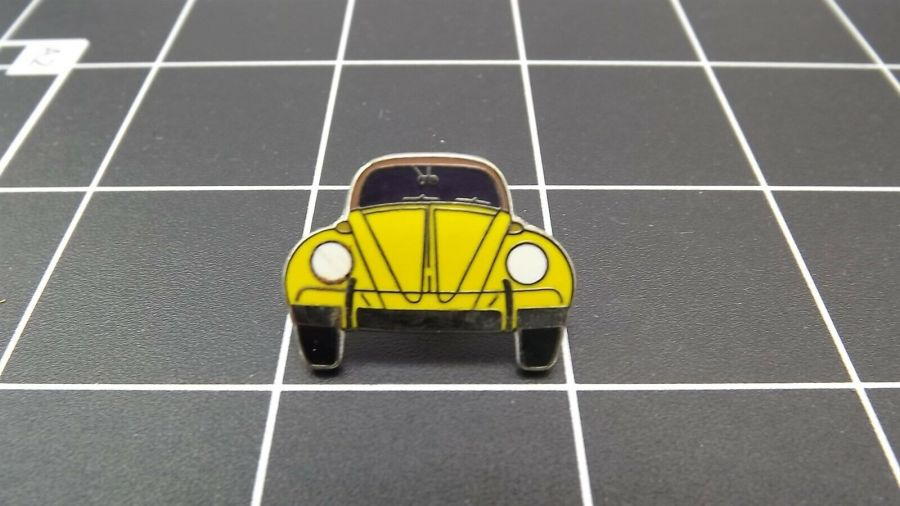 "BRAND NEW Lapel Pin VW VOLKSWAGEN ""YELLOW BEETLE ""  ENAMELED LIFETIME GUARANTEE 1"