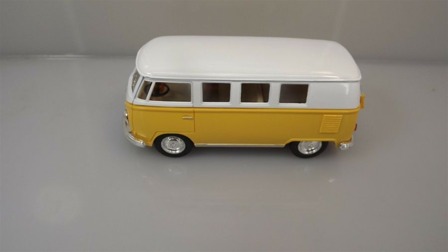Collectible Die Cast YELLOW 1962 Volkswagen Classic Bus VW 1:32 Scale Kinsmart 3