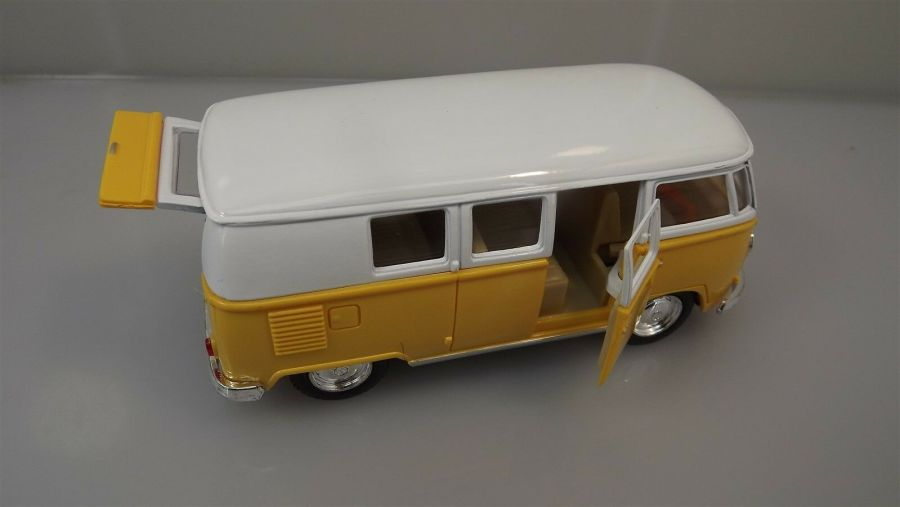 Collectible Die Cast YELLOW 1962 Volkswagen Classic Bus VW 1:32 Scale Kinsmart 5