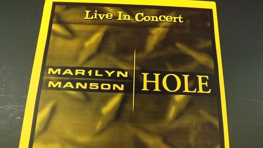 Genuine 1999 MARILYN MANSON & HOLE Live In Concert Poster Cow Palace Flyer Ad 3