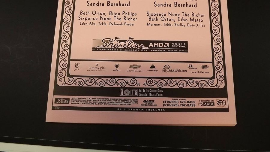 AUTHENTIC 1999 Lilith Fair Promo Flyer Ad Poster Sarah McLachlan-Sheryl Crow 5