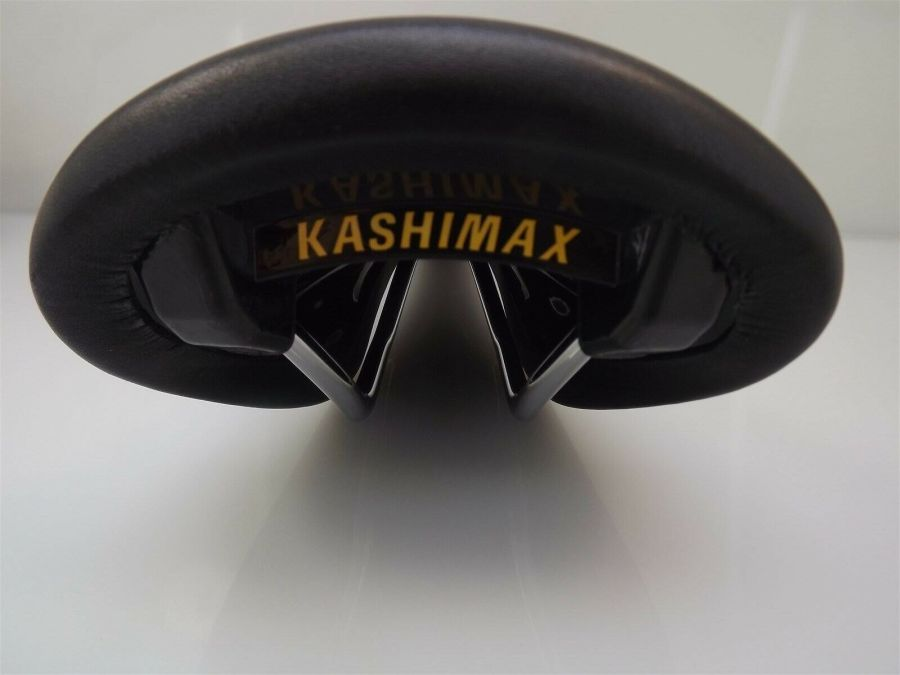 BRAND NEW Kashimax AERO BMX Seat BLACK LEATHER Old School BMX AX4A PADDED SADDLE 5