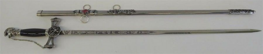 New Knights Templar Mason Masonic Sword & Sheath Rose Croix Scottish Rite 3