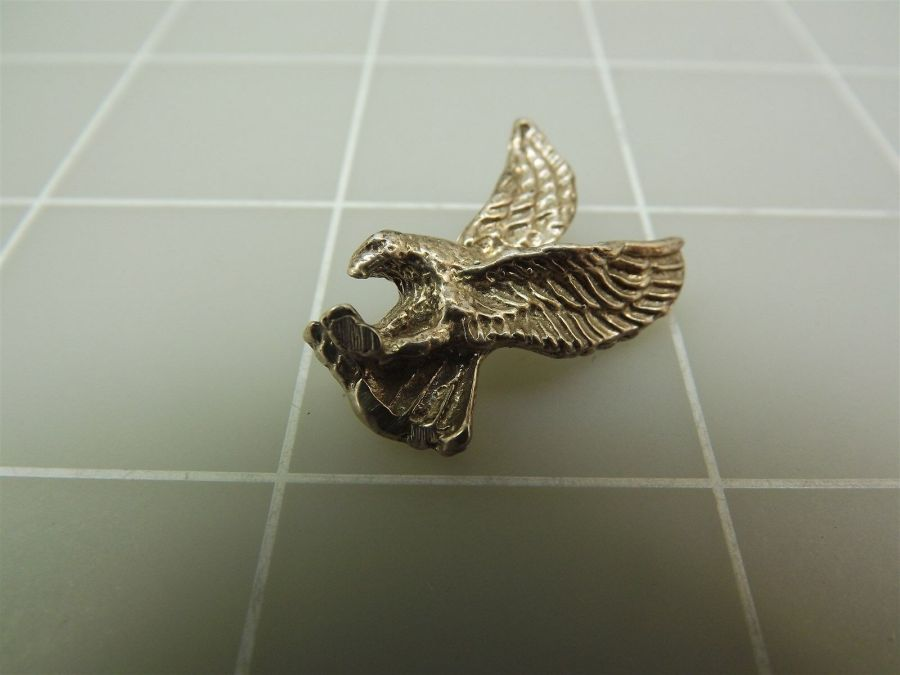 Vintage Sterling Silver Swooping EAGLE Pendant 4.9Grams 3