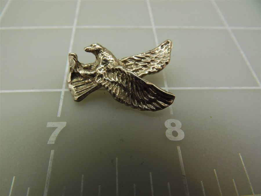 Vintage Sterling Silver Swooping EAGLE Pendant 4.9Grams 5