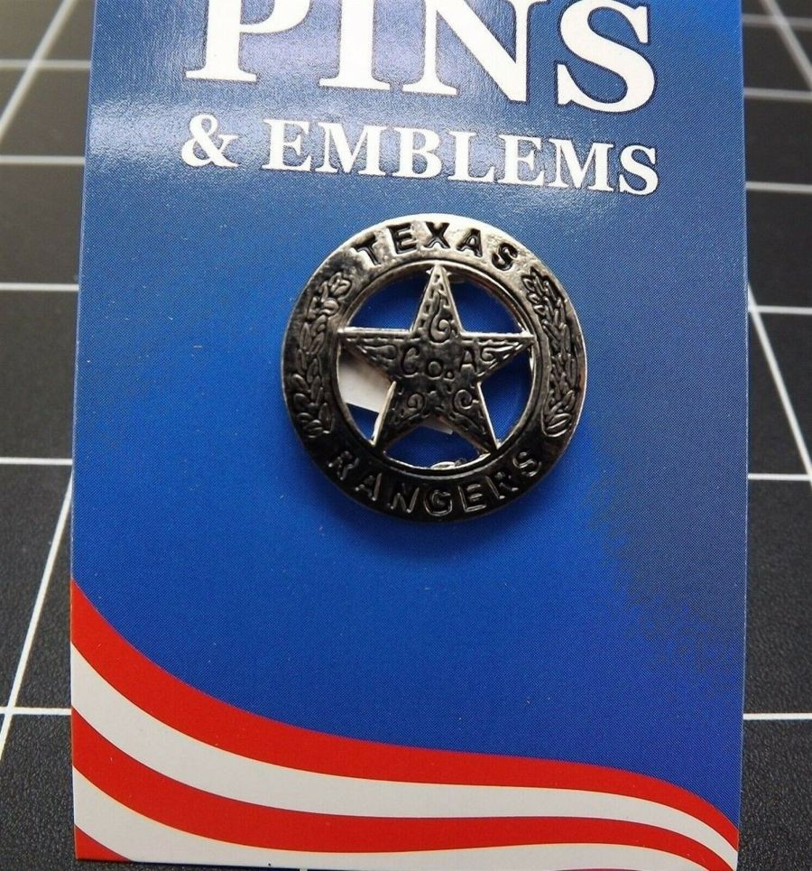 "BRAND NEW Lapel Pin Texas Rangers Police Badge 1"" 1"