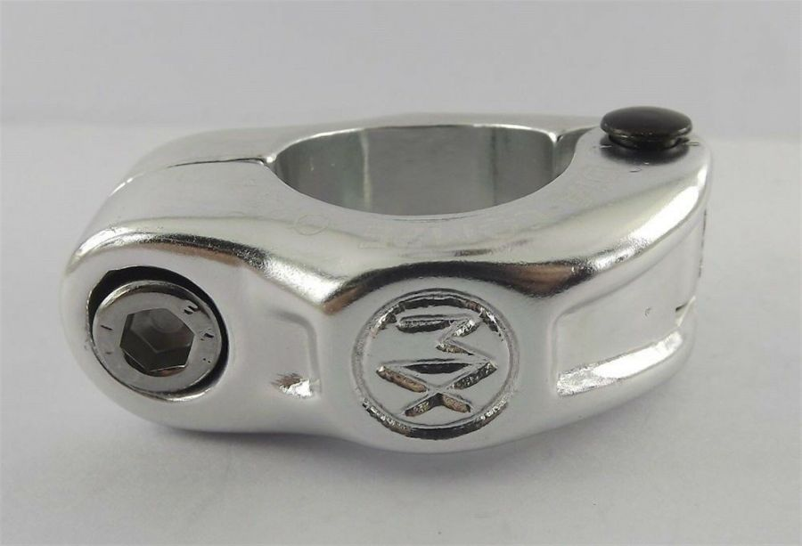 """New Dia-Compe MX Hinged Old School BMX Seat Clamp 1"""" ( 25.4mm ) Silver 1"""