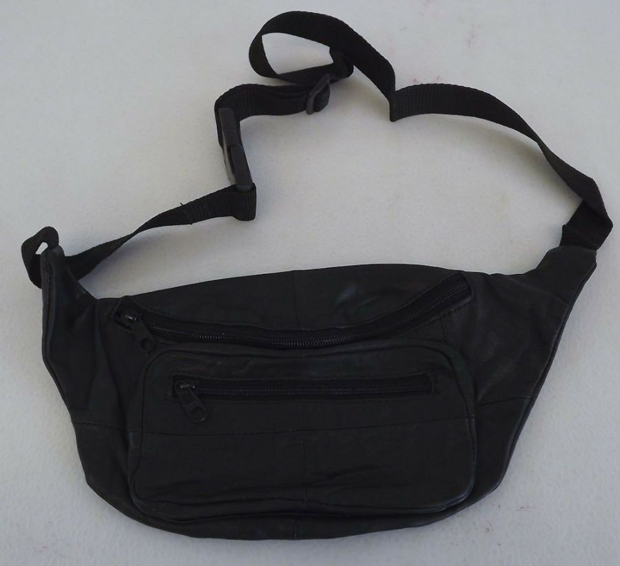 New Genuine Leather Fanny Pack Hip Bag Adjustable Waist Multi Pocket 1