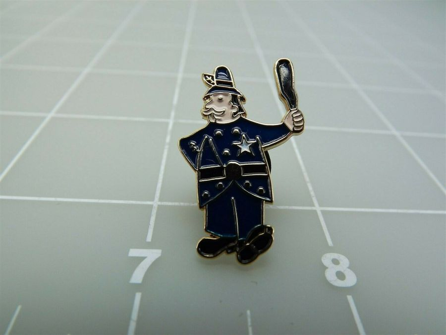 Old Time Billy Club Policeman Novelty Push Pin Lapel Pin 1