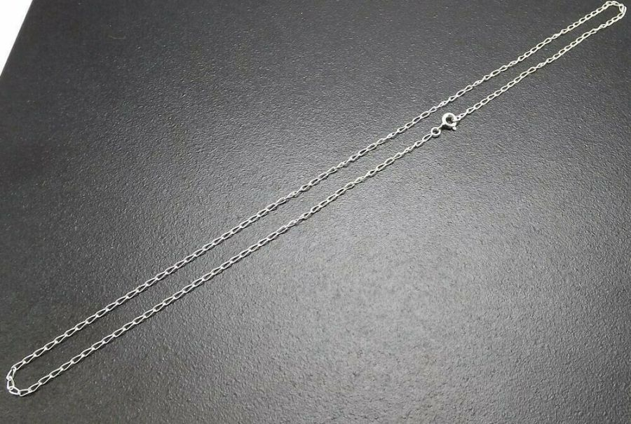 "SOLID STERLING SILVER .925 FINE 18"" Link Chain Brand New 1.7 grams 1.9MM 1"
