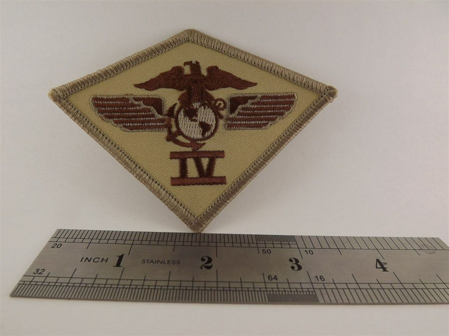 UNITED STATES MARINE USMC 4th Air Wing Division DESERT Iron on Patch BRAND NEW 3