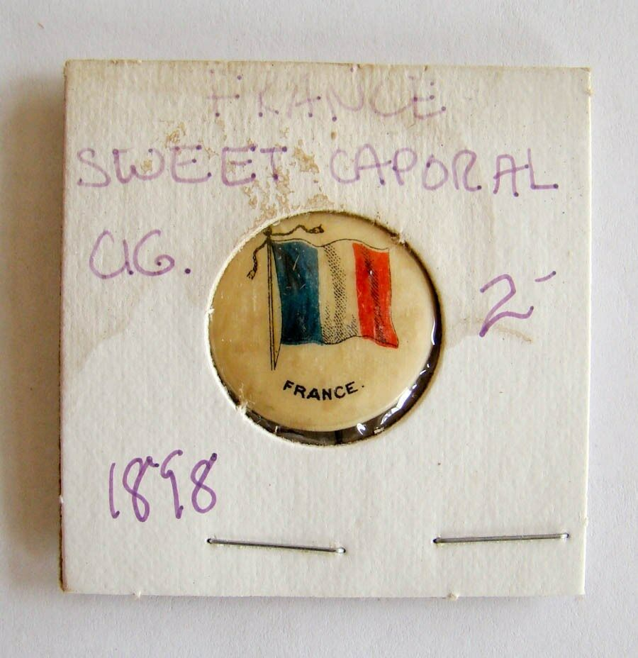Vintage Sweet Caporal Cigarette France Pin Button 1