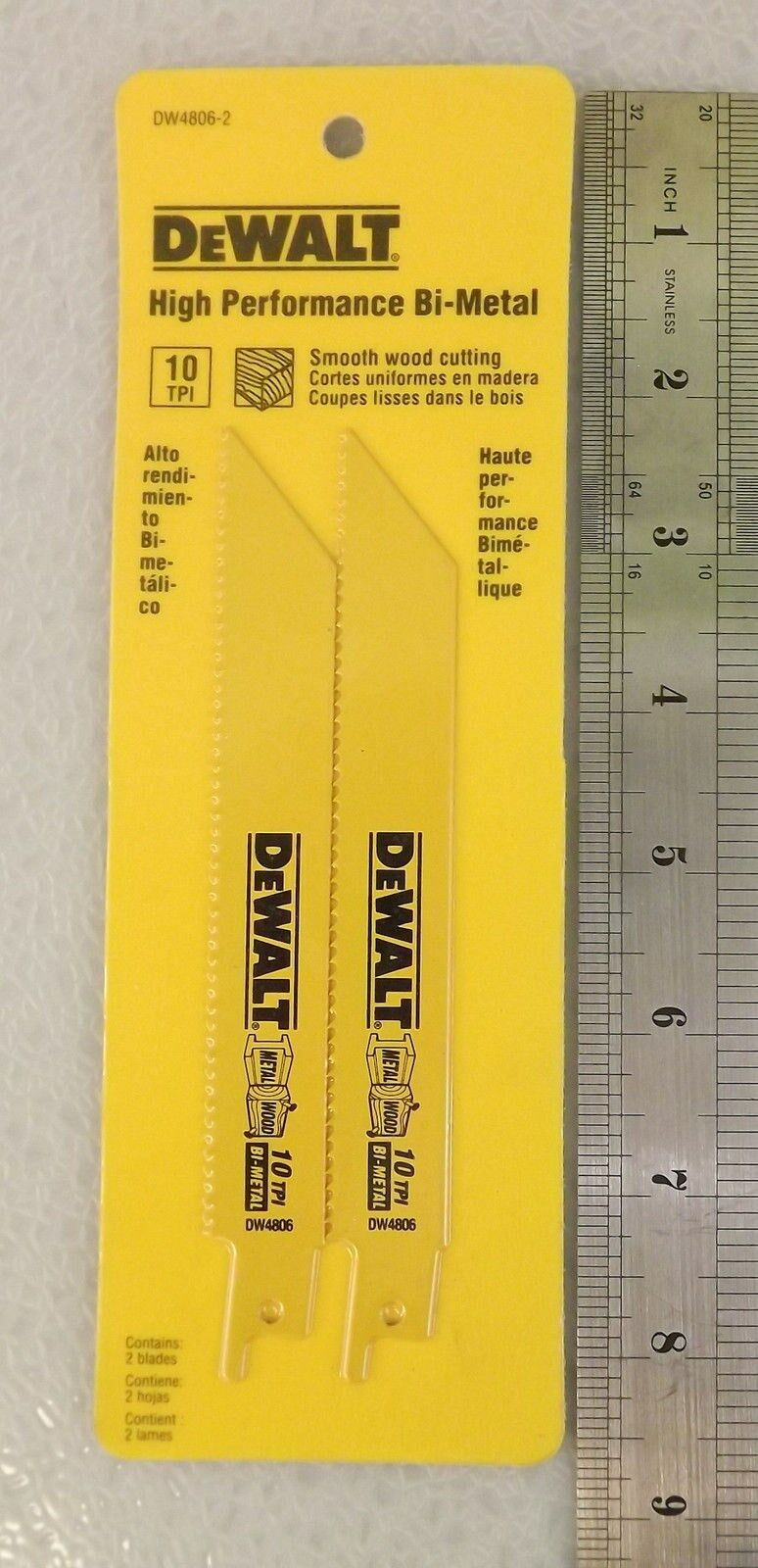 2 New Dewalt Reciprocating Bi-Metal Saw Blades DW4806-2 1