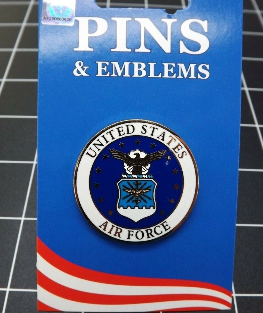 """BRAND NEW Military Lapel Pin United States Air Force USAF 1-1/2"""" 1"""