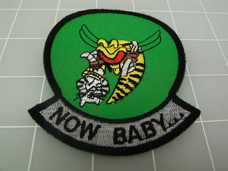 "BRAND NEW U.S. NAVY USN TOMCAT Now Baby... Green & Black Patch 3 3/8"" 1"