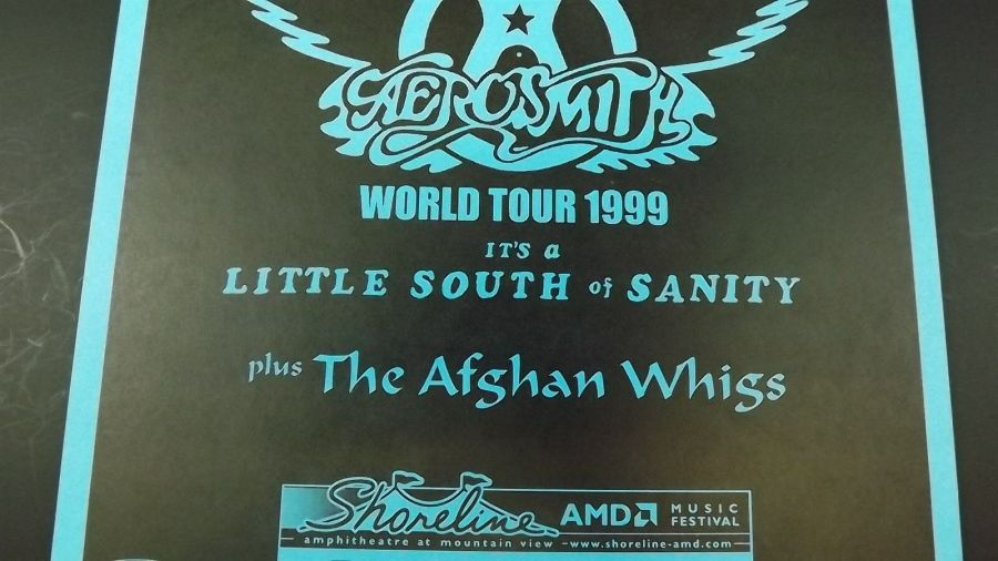 Genuine 1999 AEROSMITH World Tour Music Concert Poster Flyer Ad W/ AFGHAN WHIGS 5