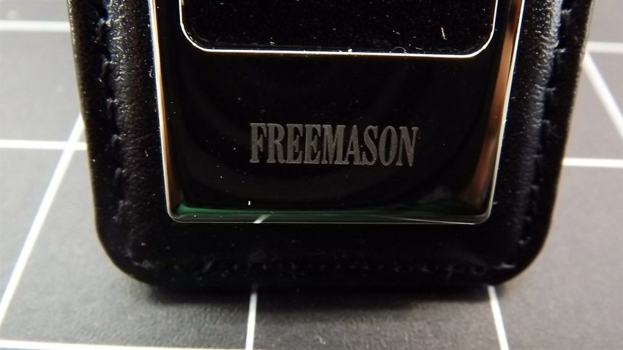Masonic Money Clip, Square and Compass  MASON FREEMASON LEATHER/STEEL BRAND NEW 7