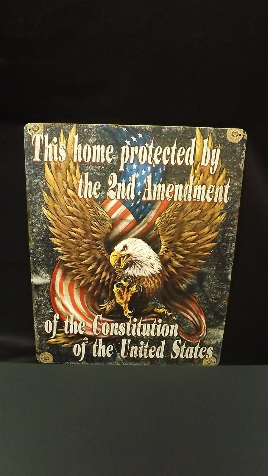 """""""2nd AMENDMENT"""" METAL SIGN 12"""" X 15"""" BRAND NEW Home Protection Constitution 1"""