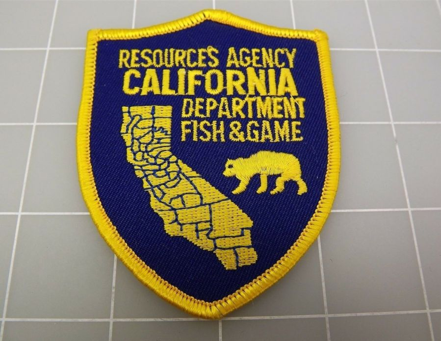 "CALIFORNIA Resources Agency Department FISH & GAME PATCH BRAND NEW 2 6/8"" 1"