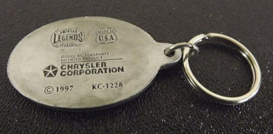 Collectible Solid Pewter Enameled Keychain Dodge Motorsports 3